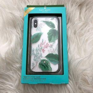 Kate Spade Botanical Leaf IPhone Xs/X phone case